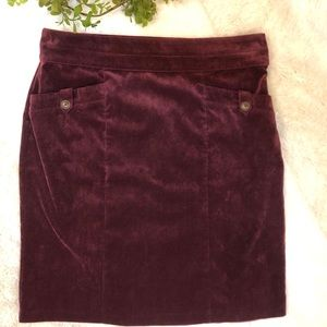 {Christopher & Banks} Maroon Corduroy Skirt